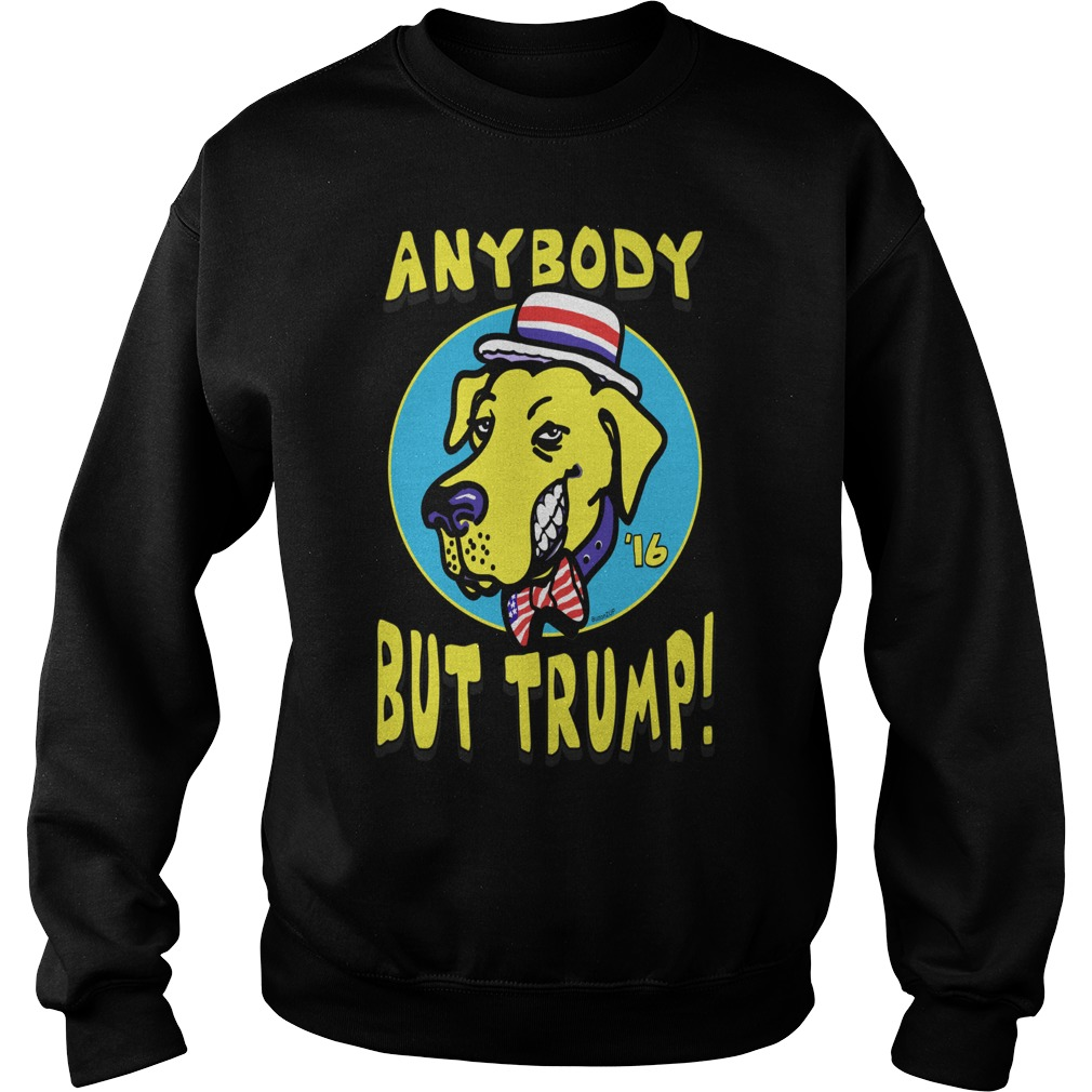 Anybody But Trump Yellow Dog merry christmas sweater