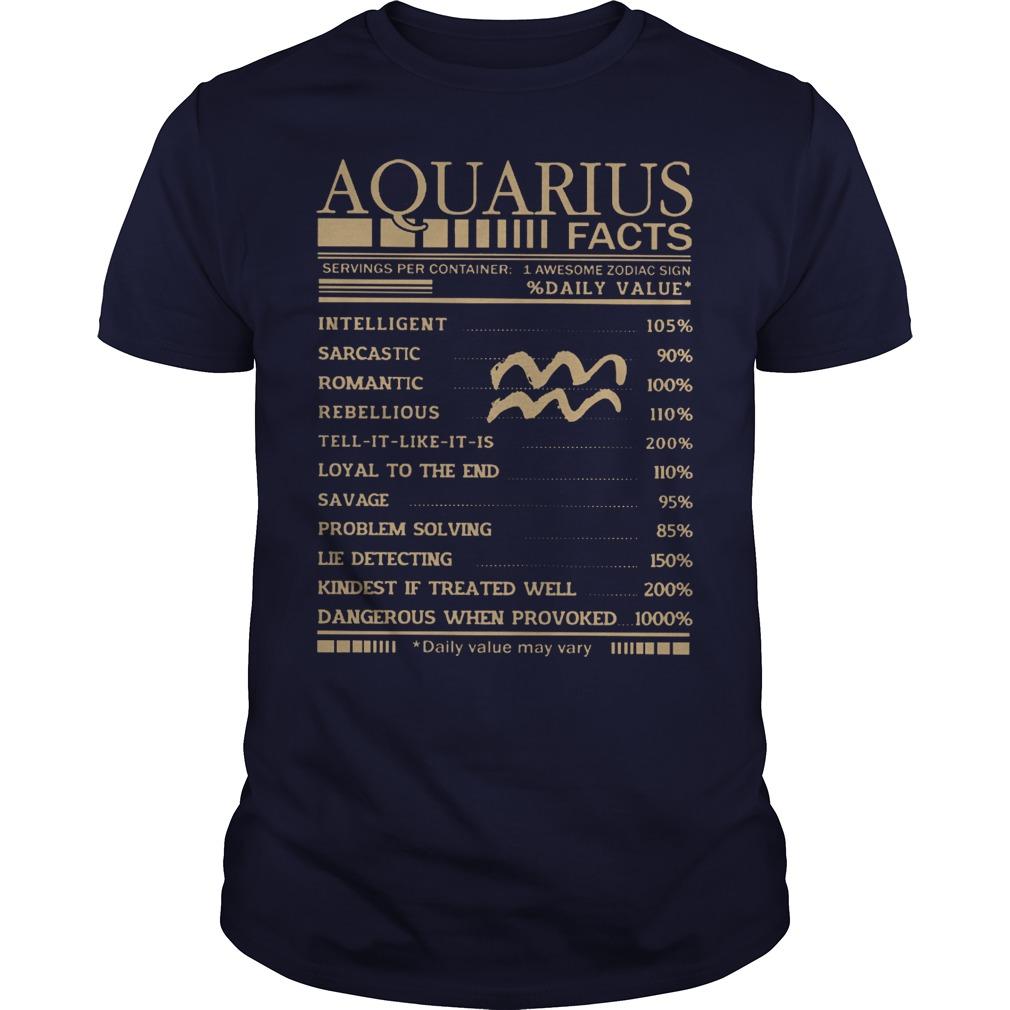 Aquarius Facts shirt
