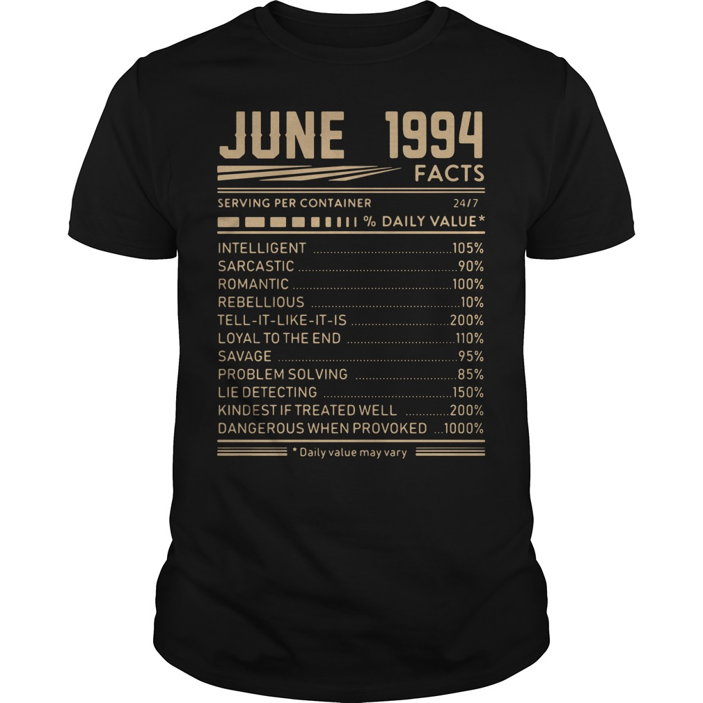 August 1994 facts serving per container shirt