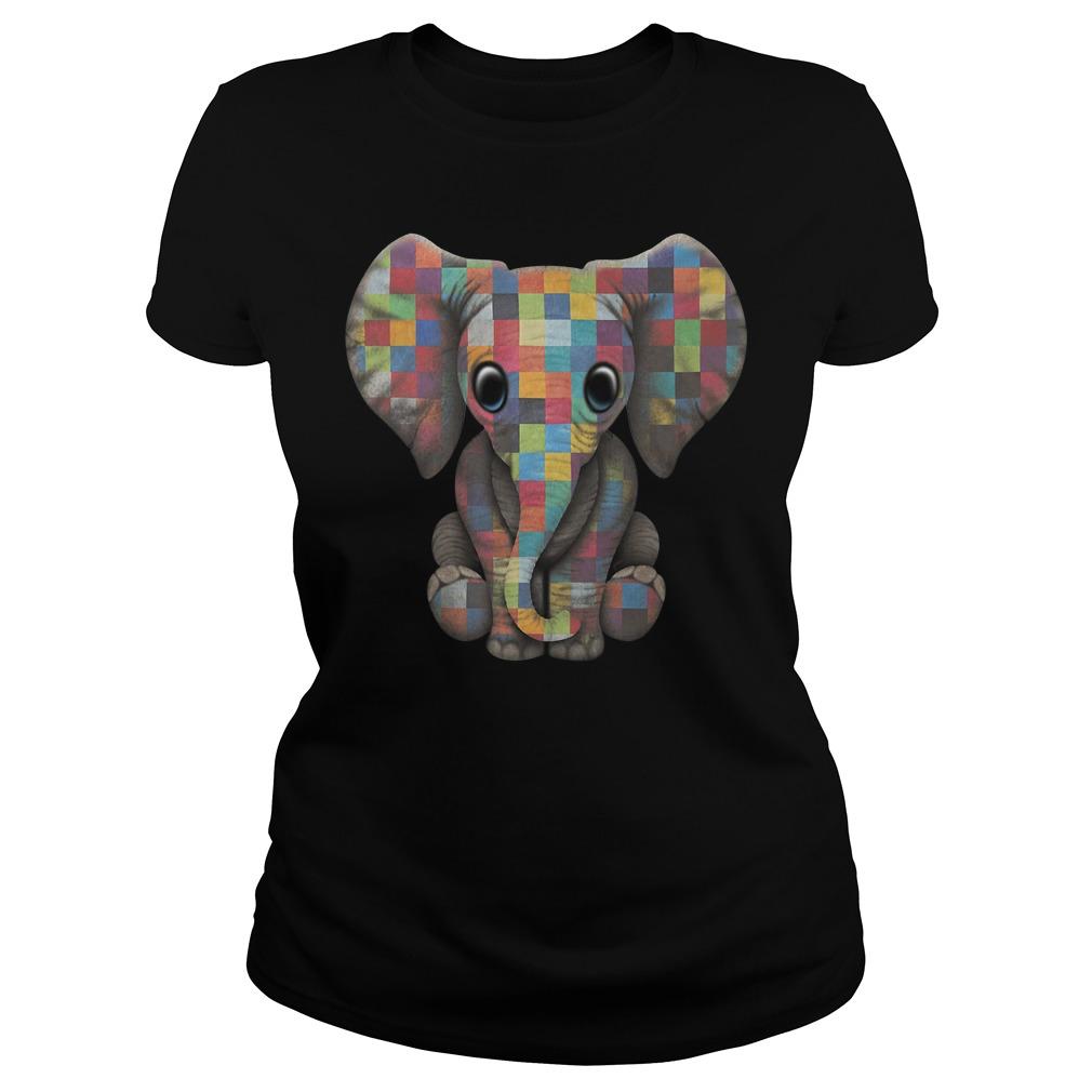Autism elephant Ladies tee