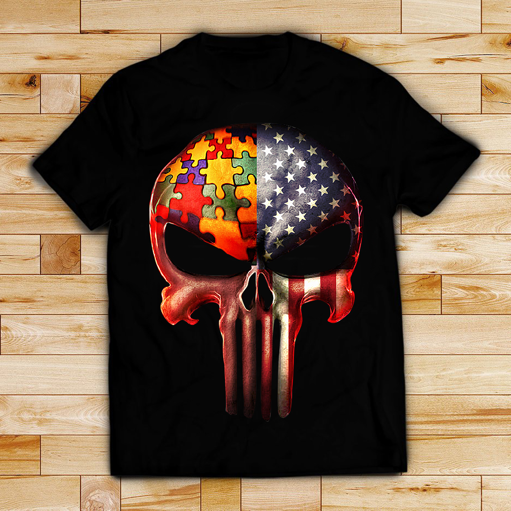 Autism the US skull shirt