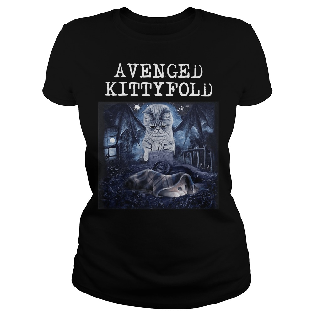 Avenged Kittyfold Welcome to the Family Avenged Sevenfold Ladies tee