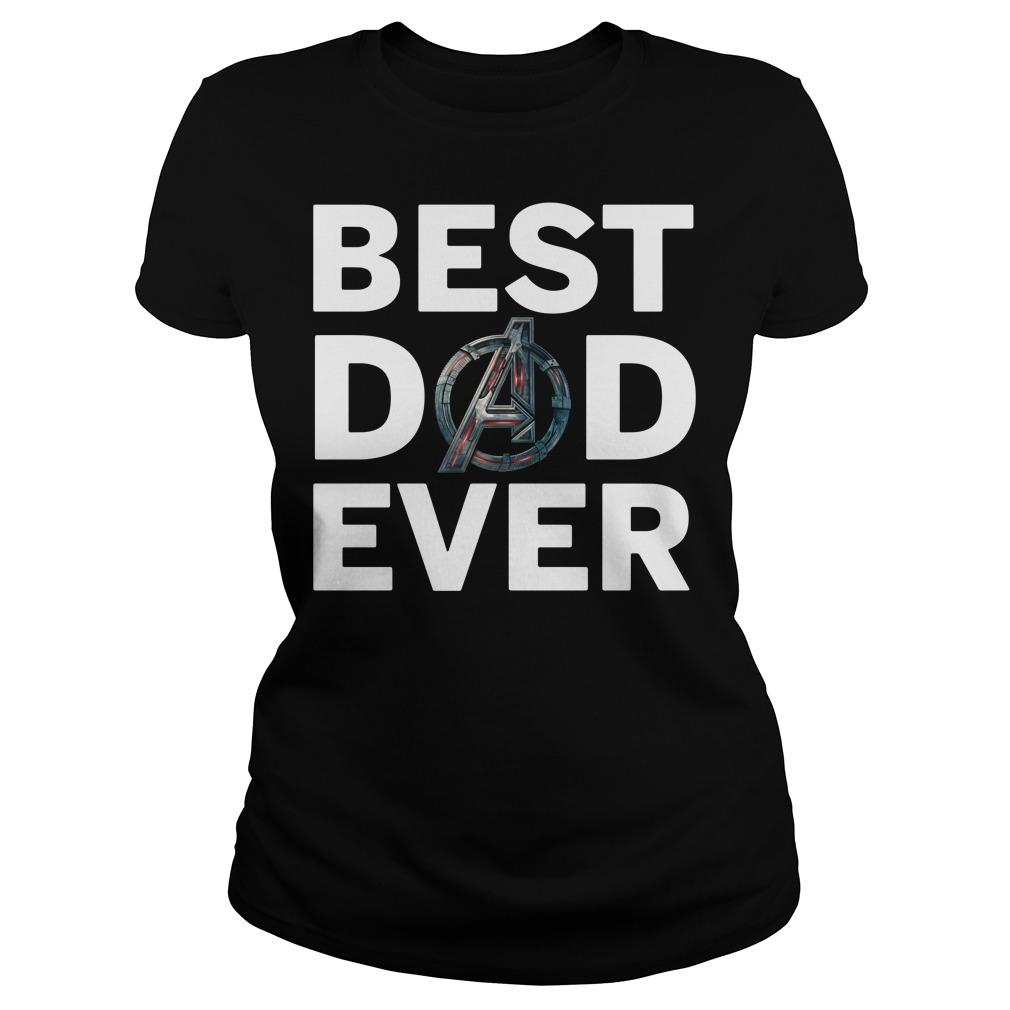 Avengers best dad ever Ladies tee