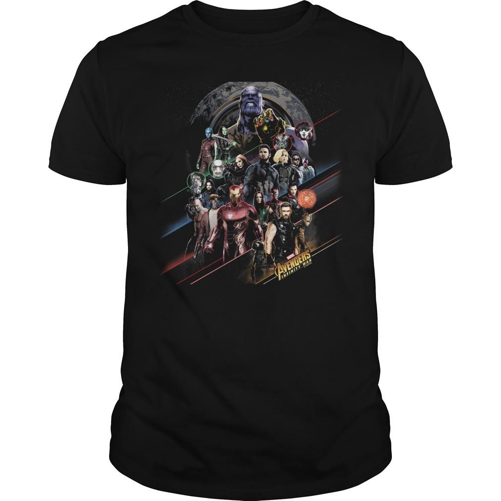 Avengers Infinity War poster shirt