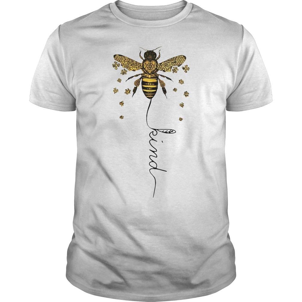 Autism Awareness Bee Kind shirt