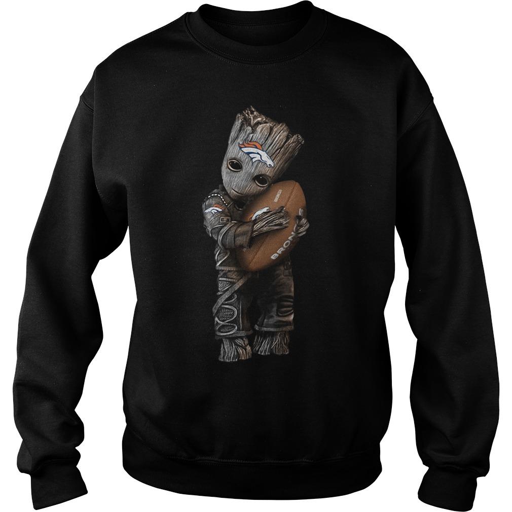 Baby Groot hug Denver Broncos Sweater