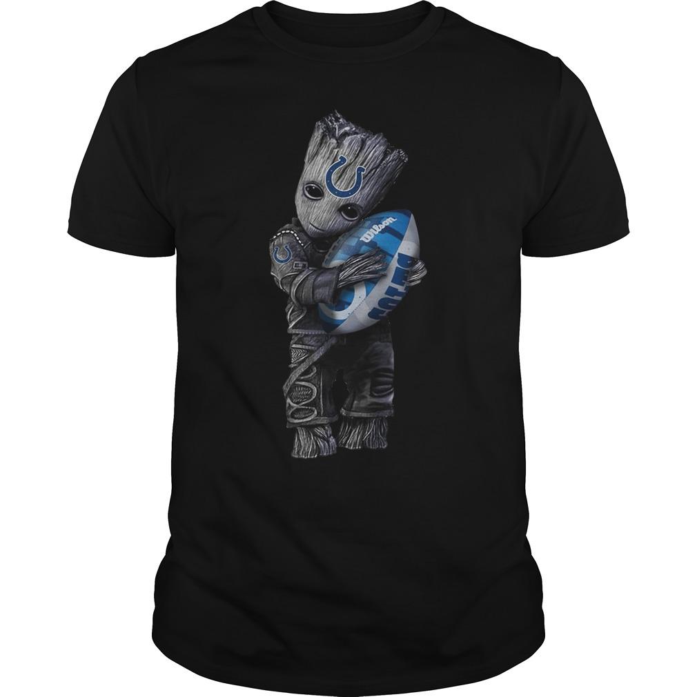 Baby Groot hug Indianapolis Colts shirt