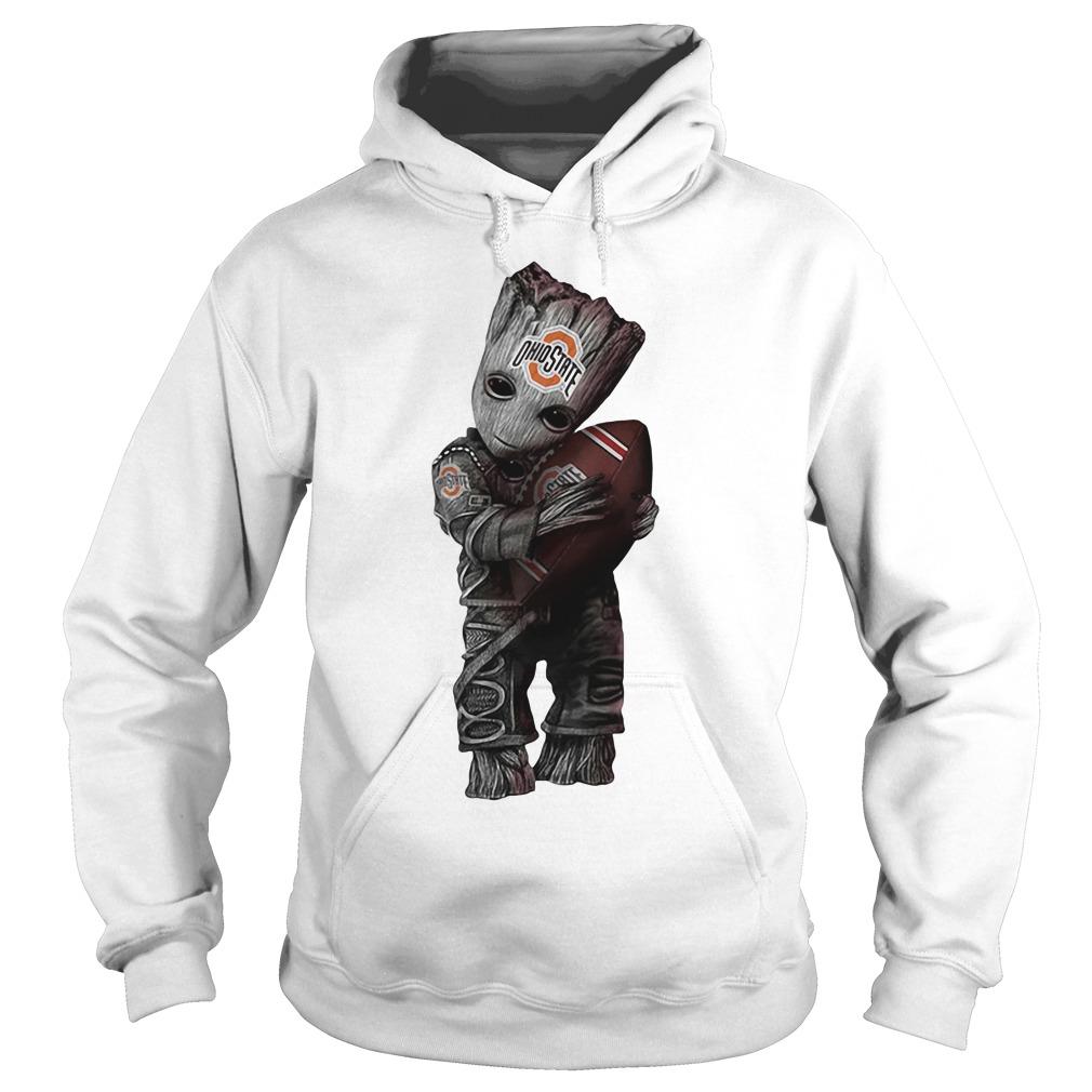 Baby Groot hug Ohio State buckeyes shirt, hoodie and v-neck t-shirt