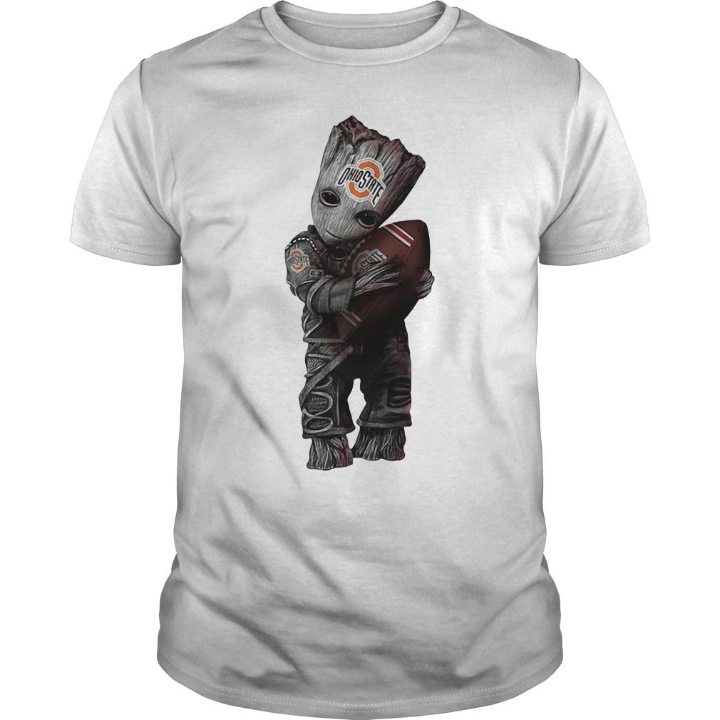 Baby Groot Hug Ohio State Buckeyes Shirt Hoodie And V