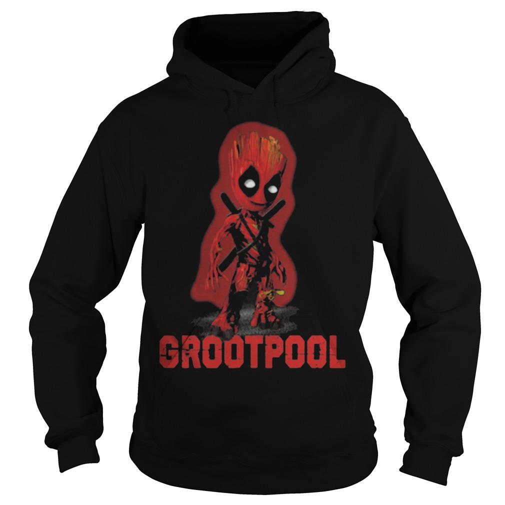 Baby Grootpool baby Groot and deadpool Hoodie