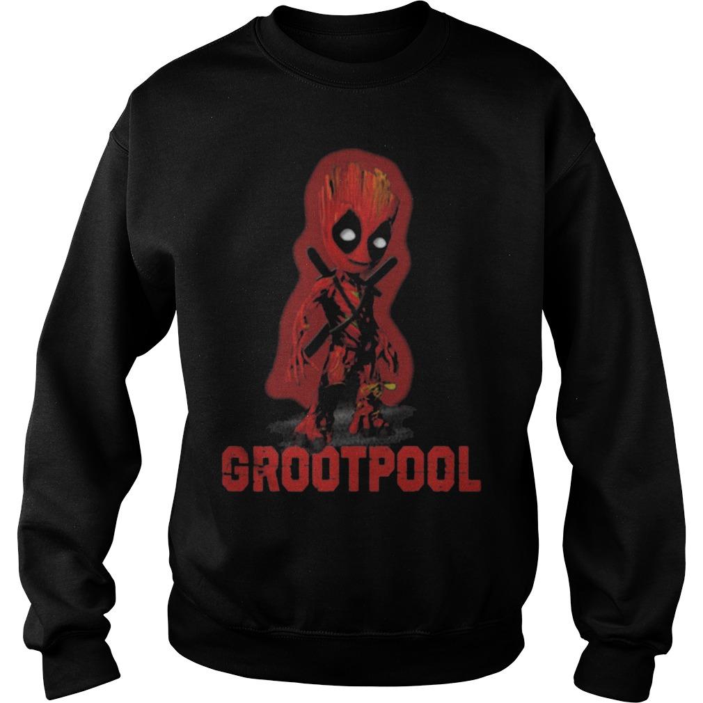 Baby Grootpool baby Groot and deadpool Sweater