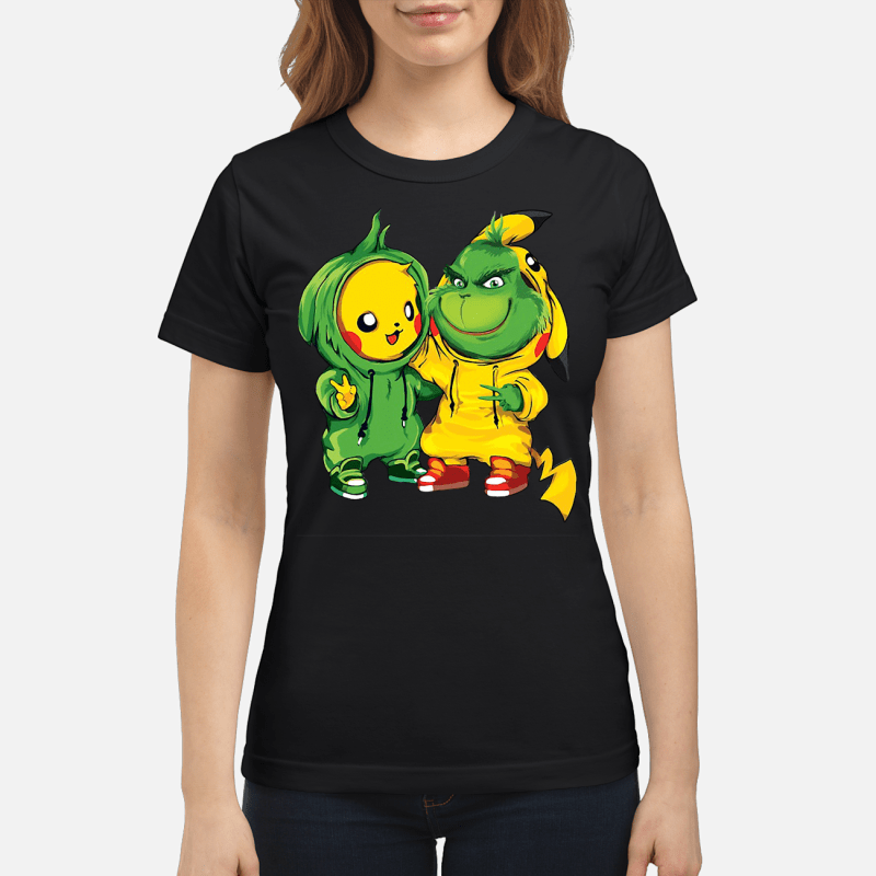 Baby Pikachu and Grinch Ladies tee