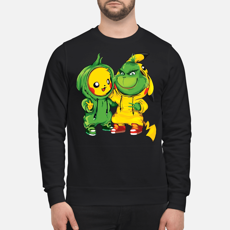 Baby Pikachu and Grinch Sweater