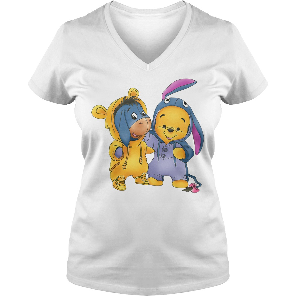 Baby Pooh and Eeyore Winnie the Pooh V-neck t-shirt