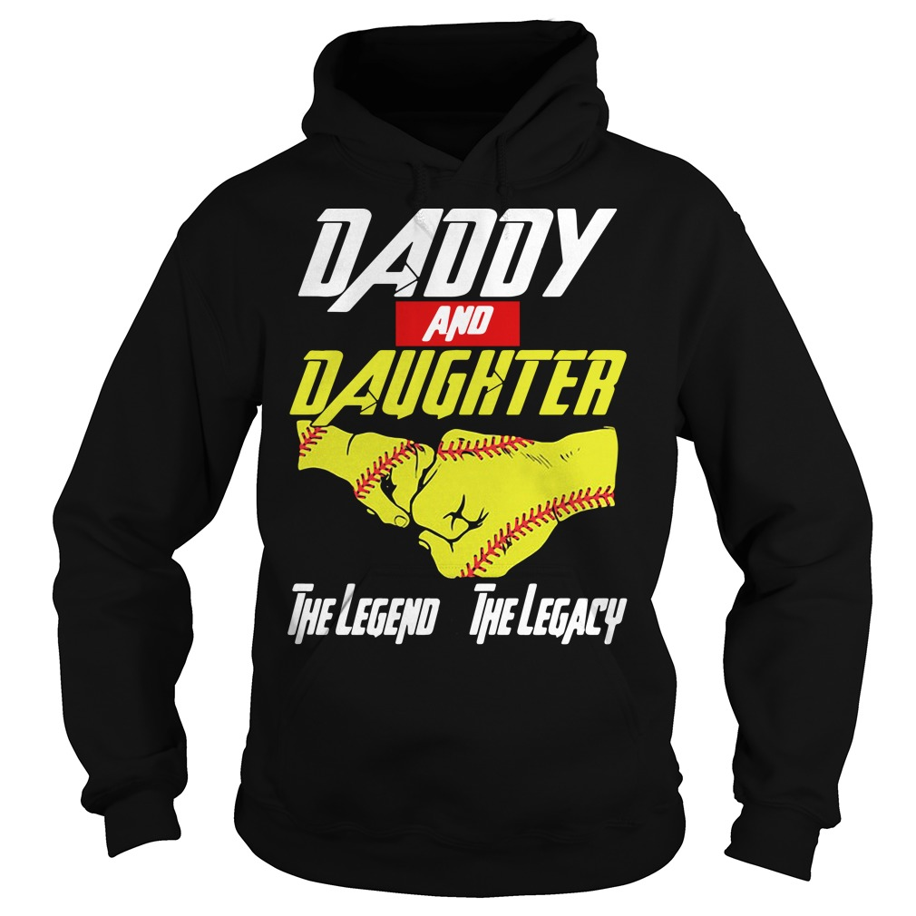 Baseball daddy and daughter the legend and the legacy Marvel Avengers Hoodie