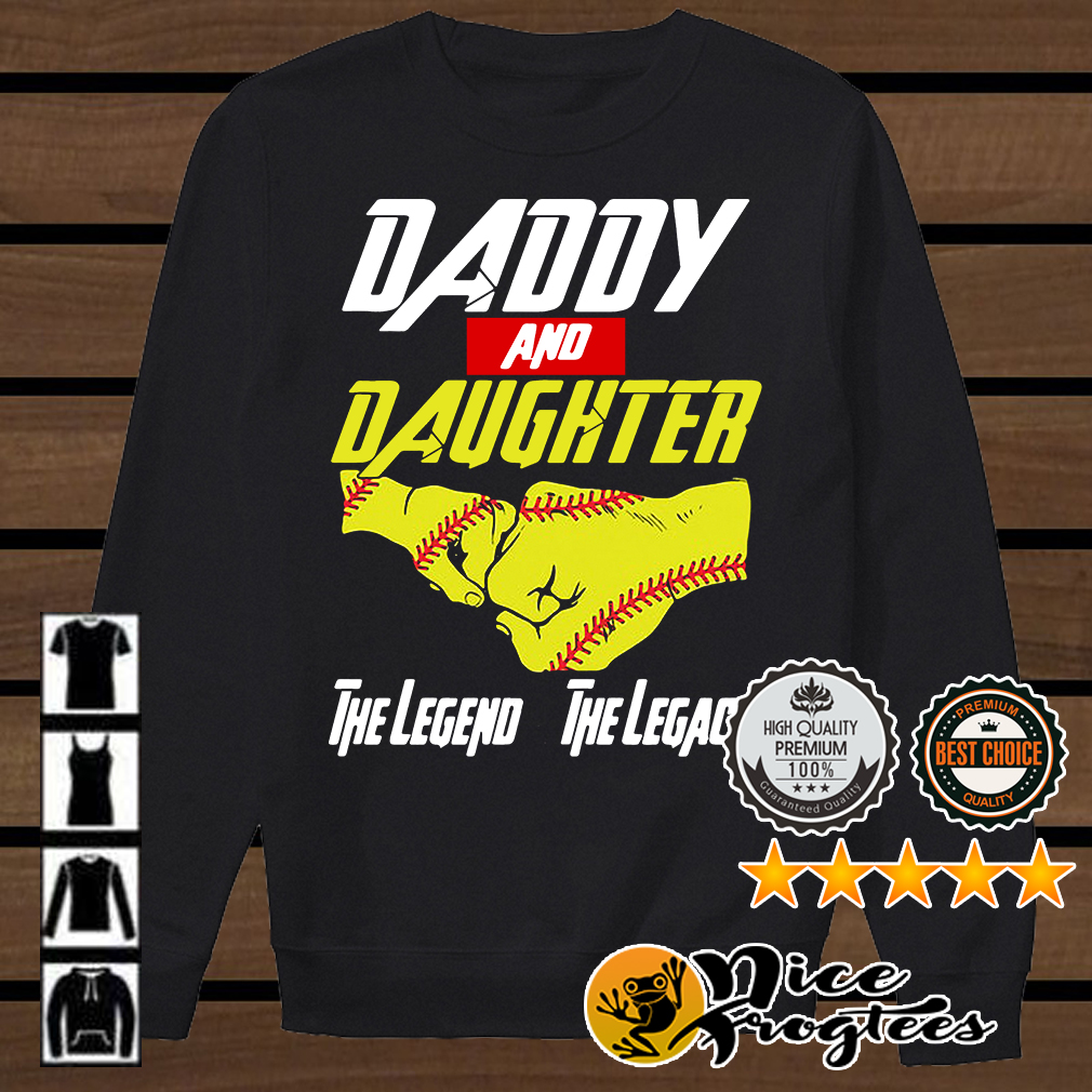 Baseball daddy and daughter the legend and the legacy Marvel Avengers shirt