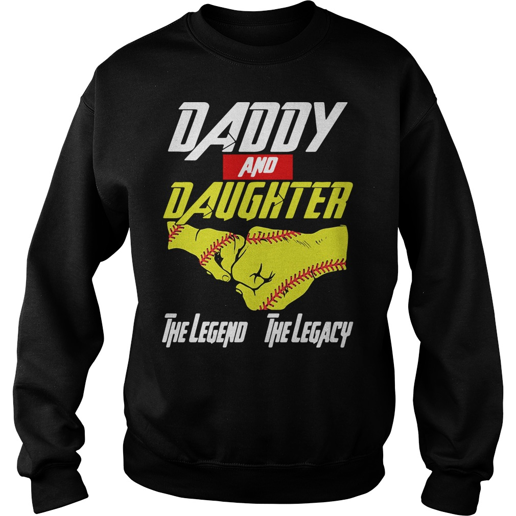 Baseball daddy and daughter the legend and the legacy Marvel Avengers Sweater