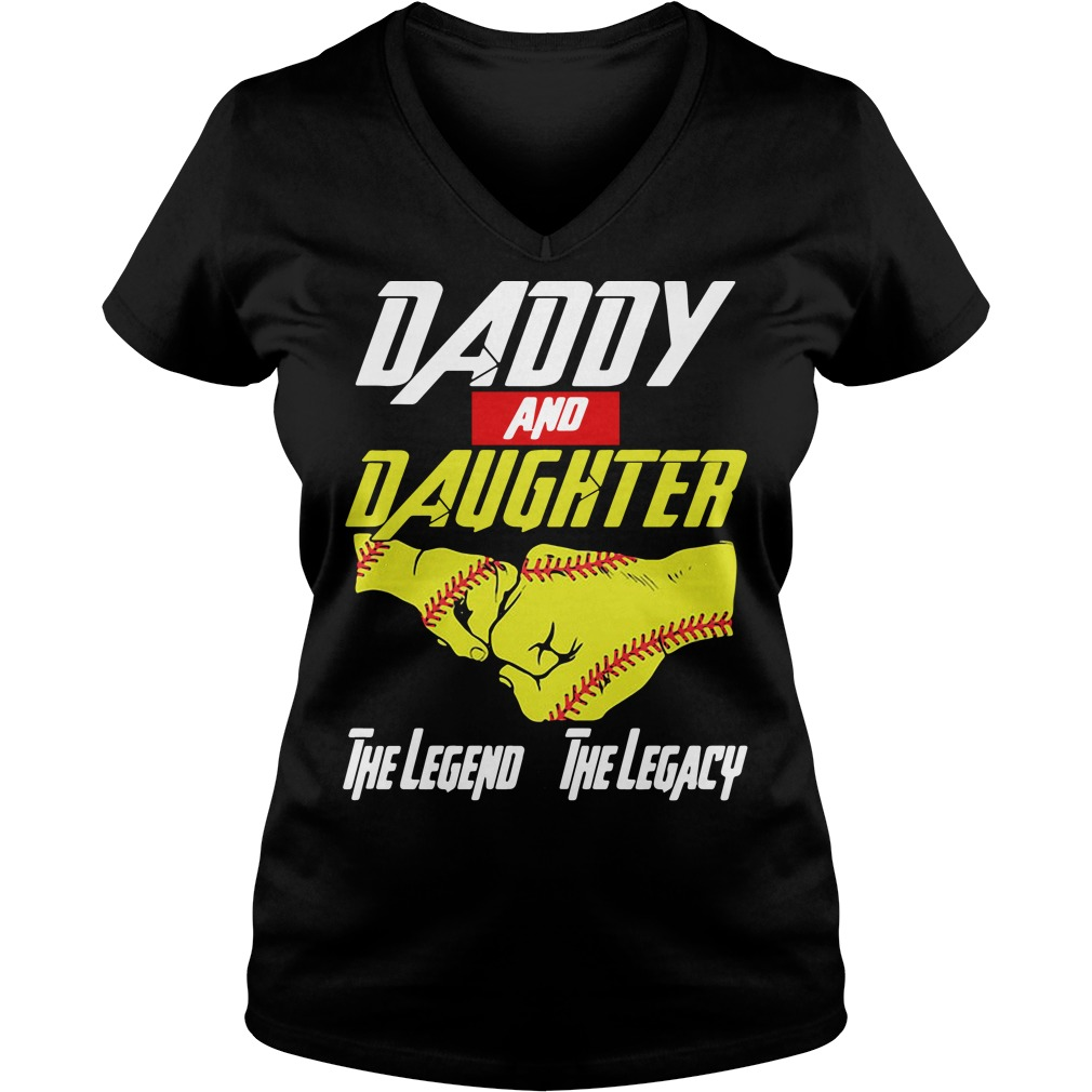 Baseball daddy and daughter the legend and the legacy Marvel Avengers V-neck t-shirt