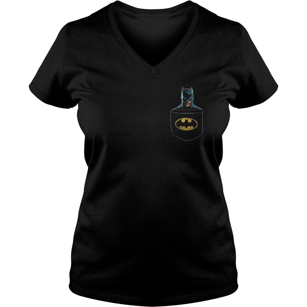 Batman pocket V-neck t-shirt