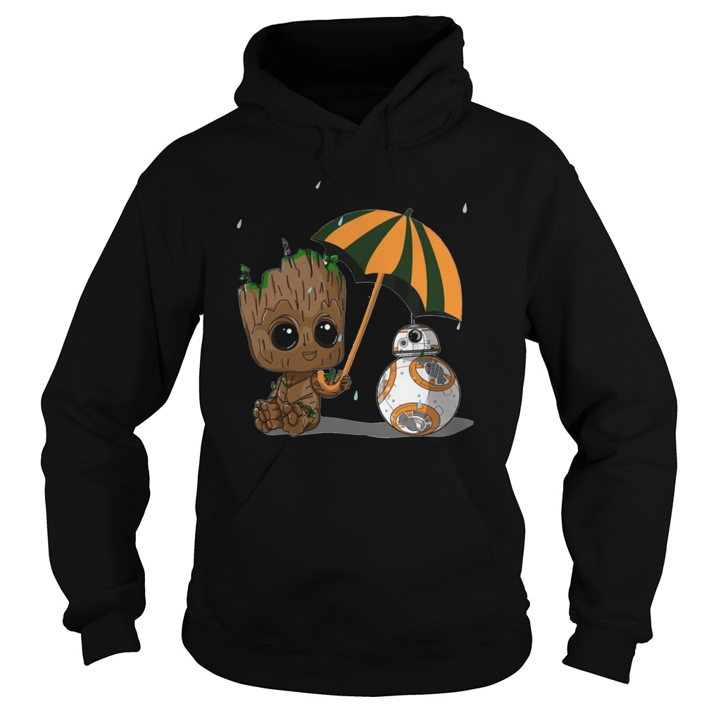 BB-8 and Baby Groot Hoodie