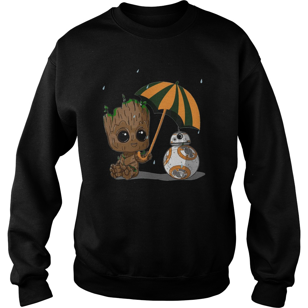 BB-8 and Baby Groot Sweater