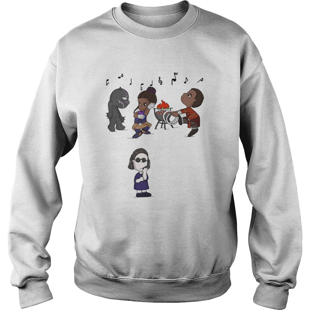 BBQ Snitch Black Panther Music Sweater