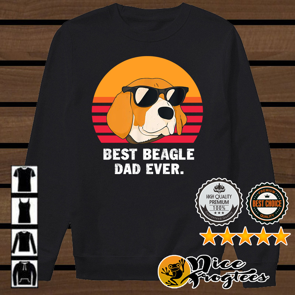 Best beagle dad ever retro shirt