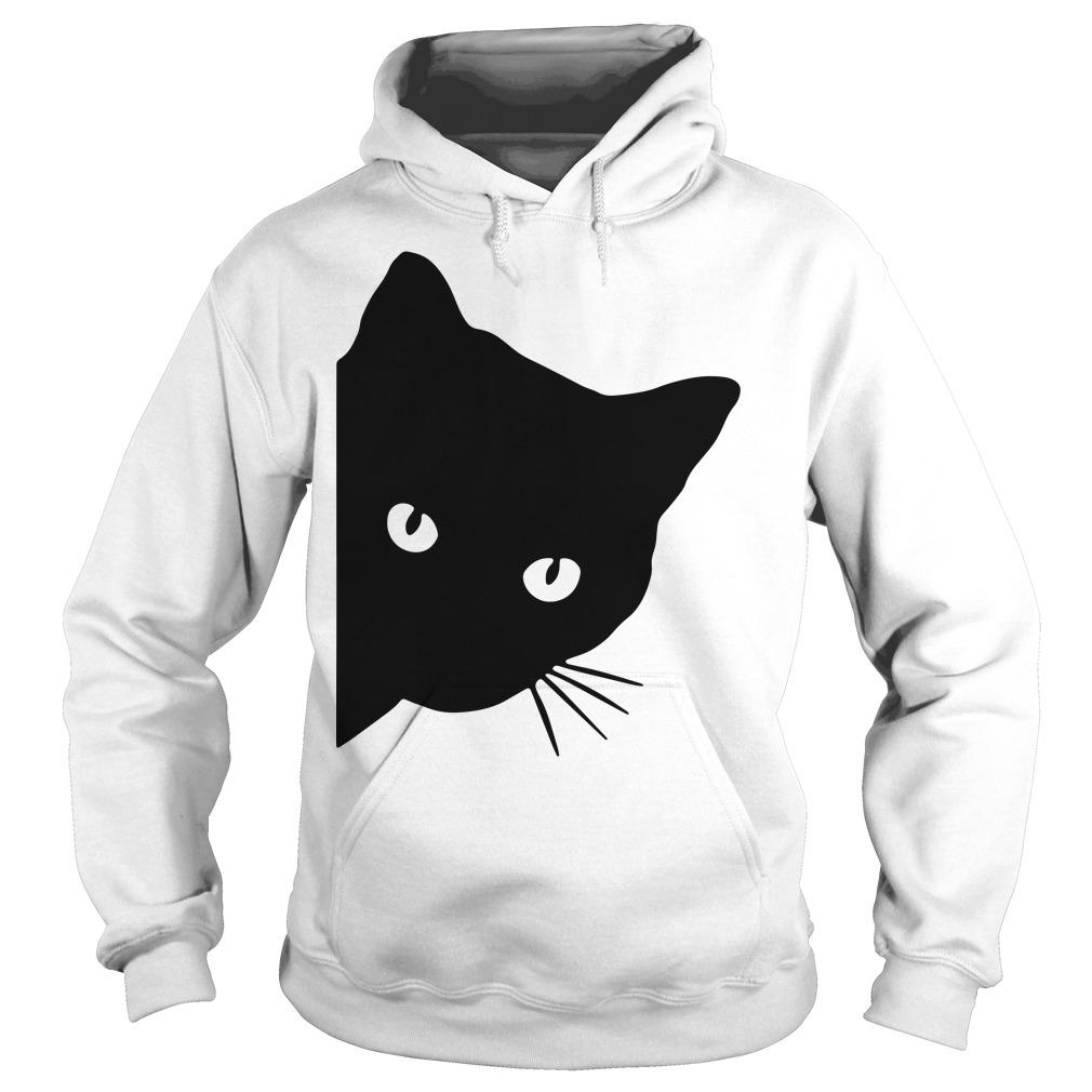 Black cat face watching Hoodie