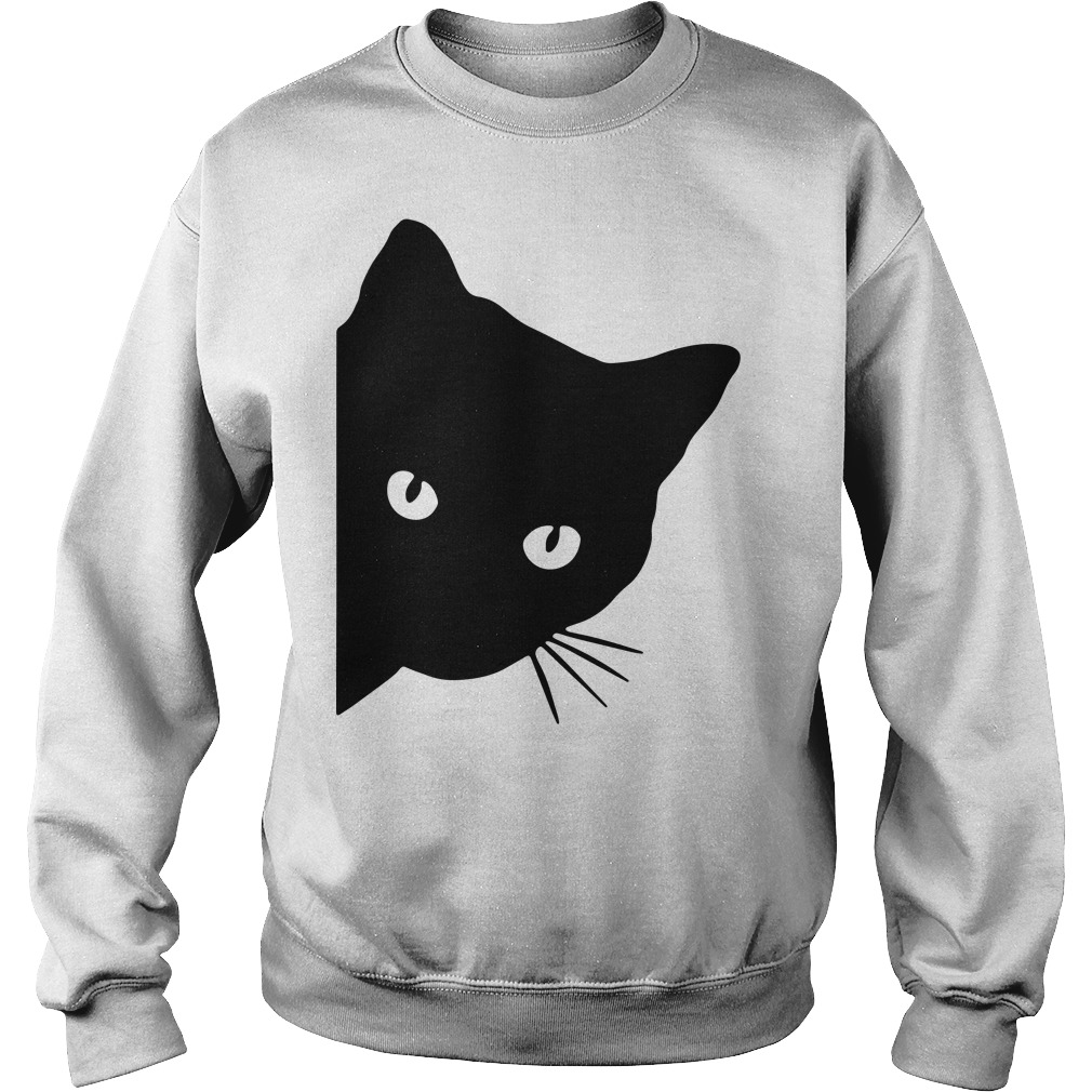 Black cat face watching Sweater