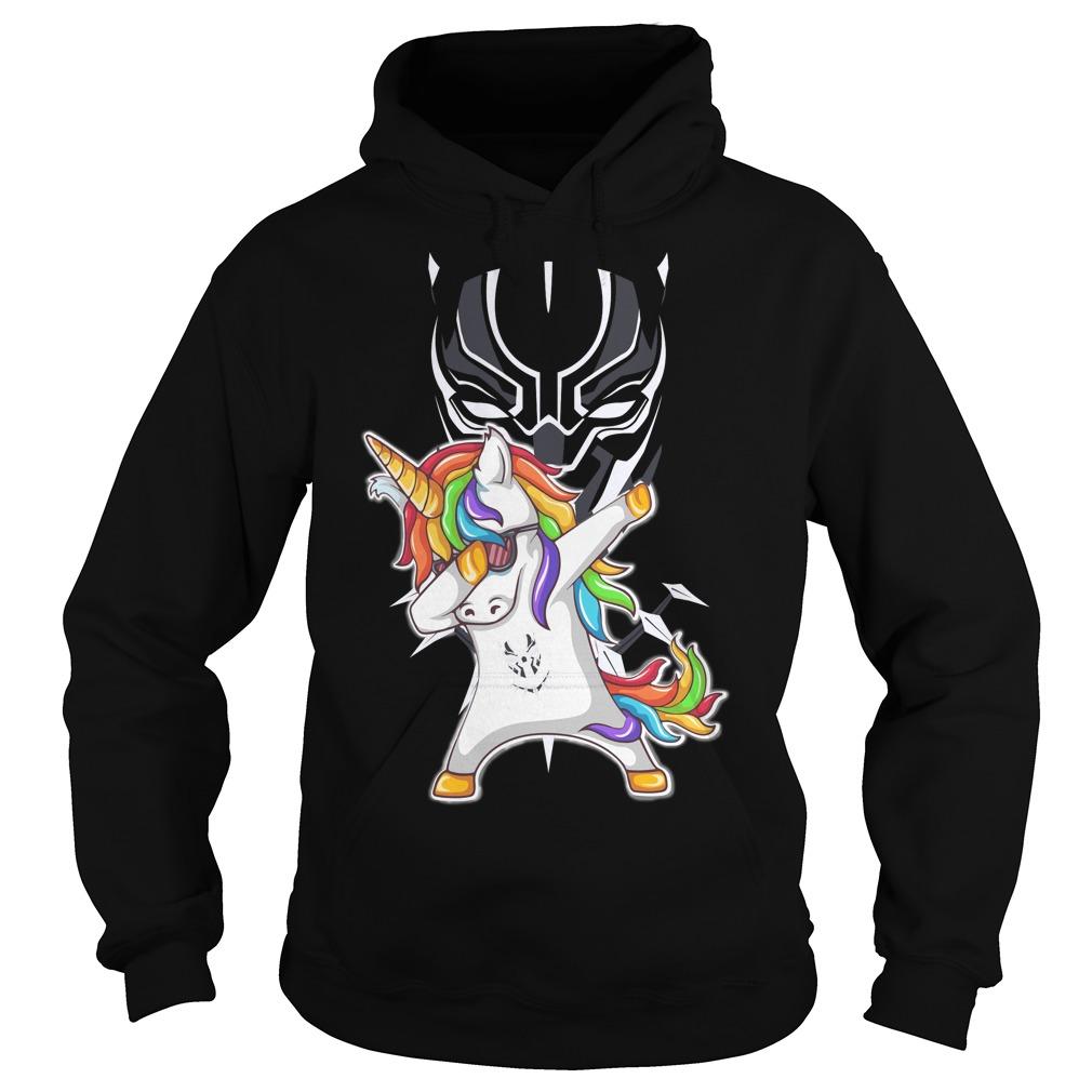 Black Panther Unicorn Dabbing Hoodie