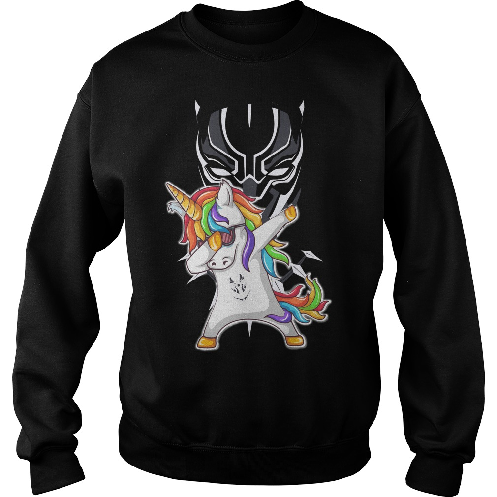 Black Panther Unicorn Dabbing Sweater