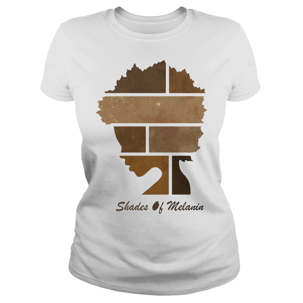 Black women shades of Melanin Ladies tee