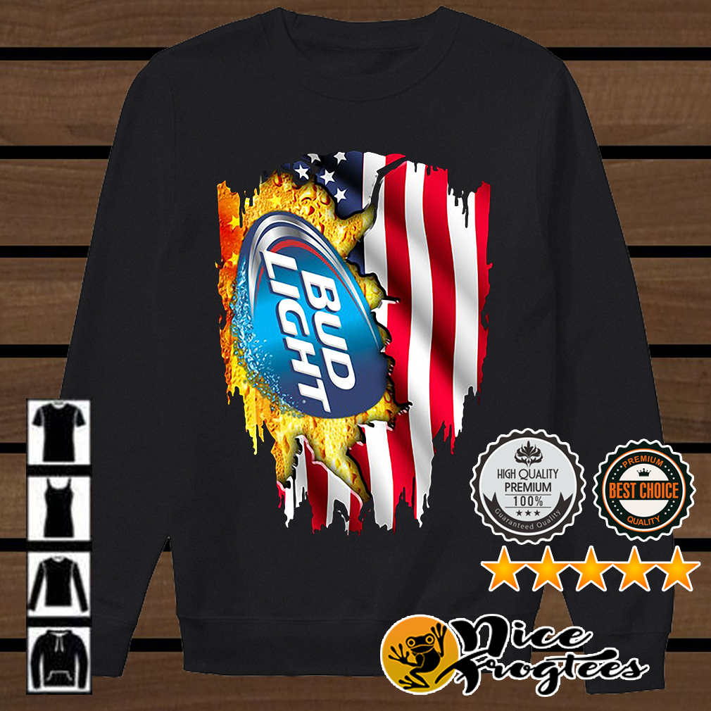 Bud Light American flag shirt