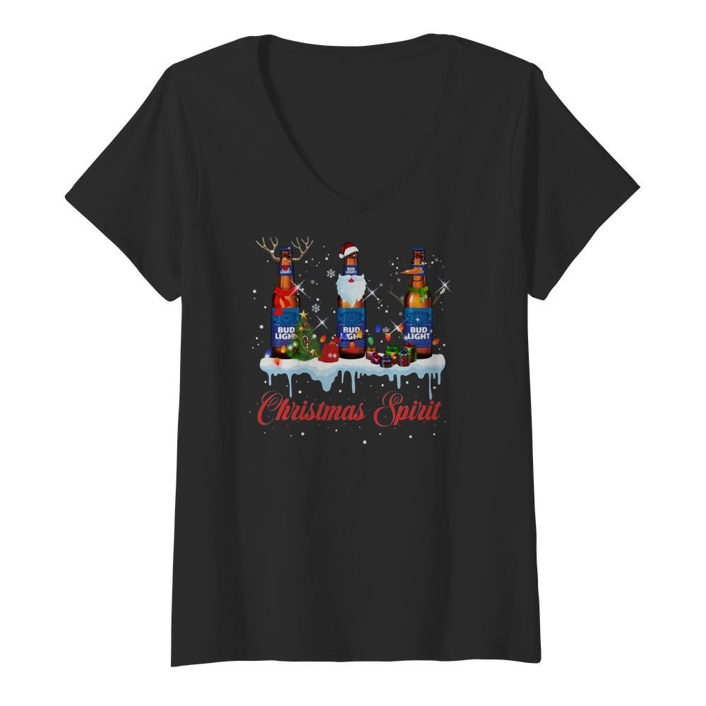 Bud Light Christmas spirit V-neck T-shirt