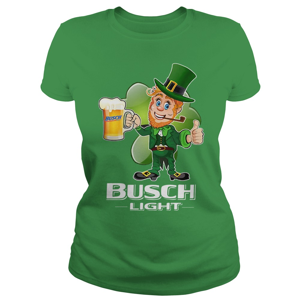 Busch Light beer St Patrick's Day Ladies tee