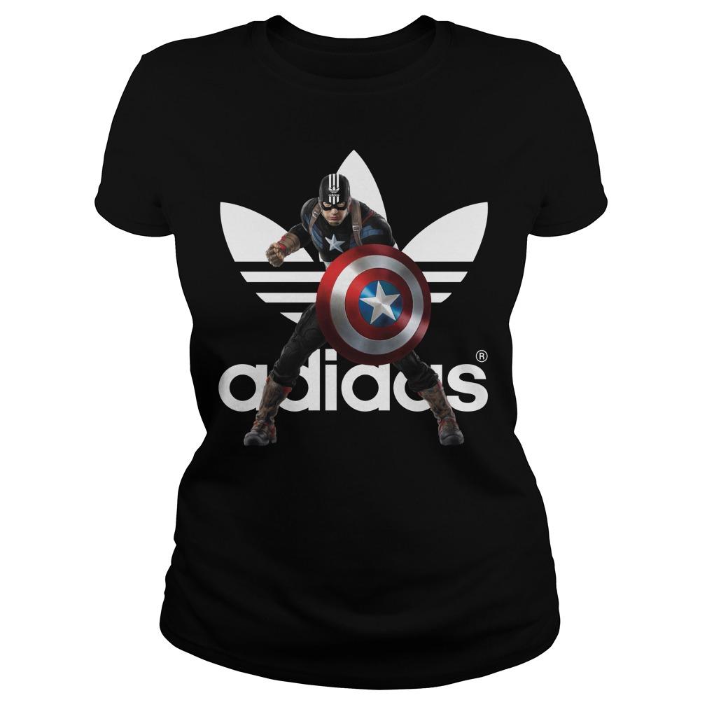 Captain America adidas ladies tee