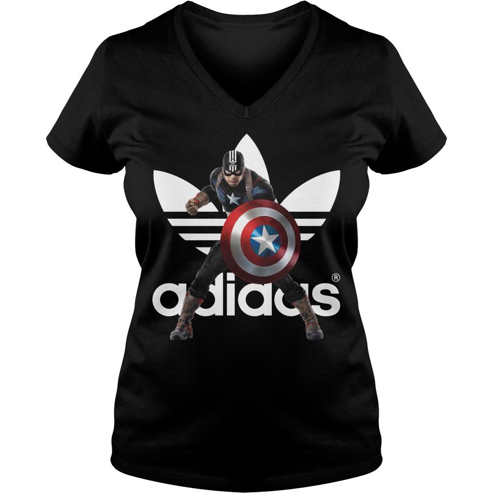 Captain America adidas V-neck t-shirt