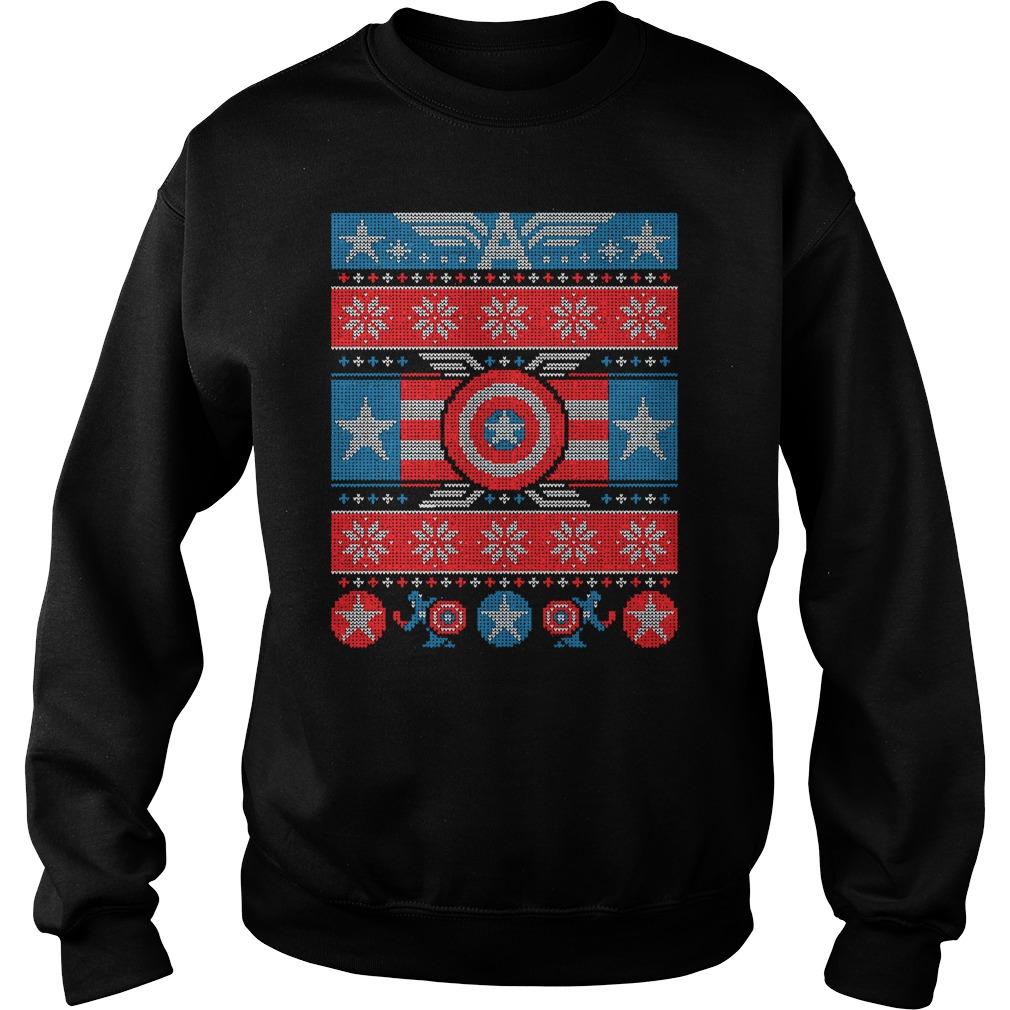 Captain America Winter Soldier Christmas Knit sweater, longsleeve tee