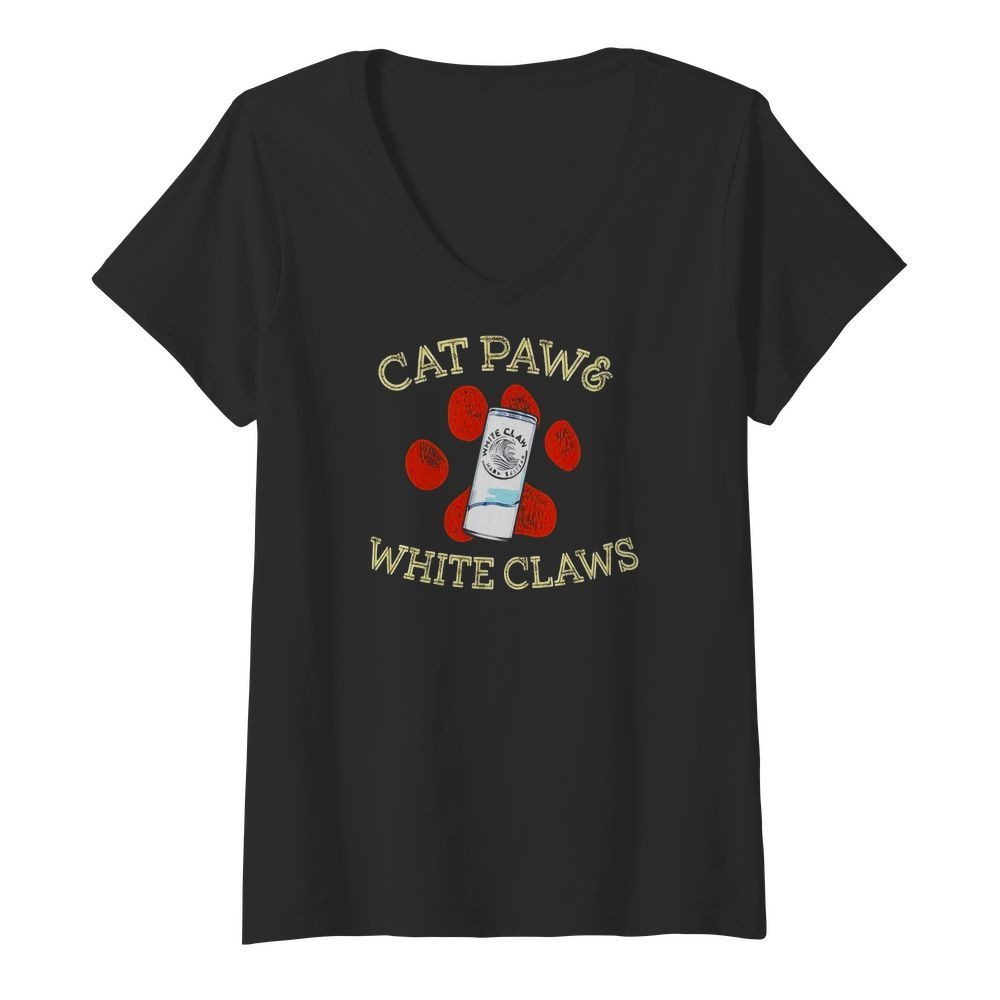 Cat paws and White Claws V-neck T-shirt