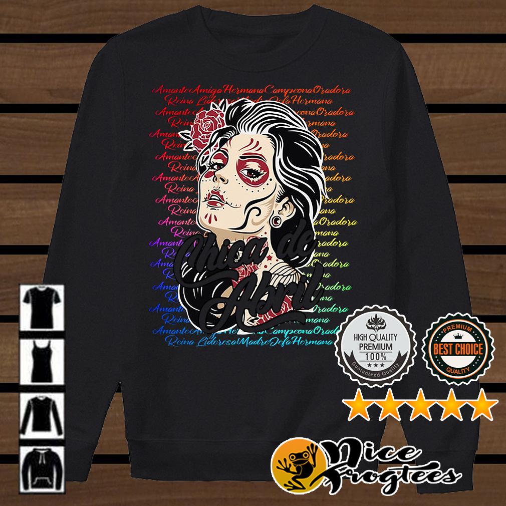Chica de Abril Día de Los Muertos camisa