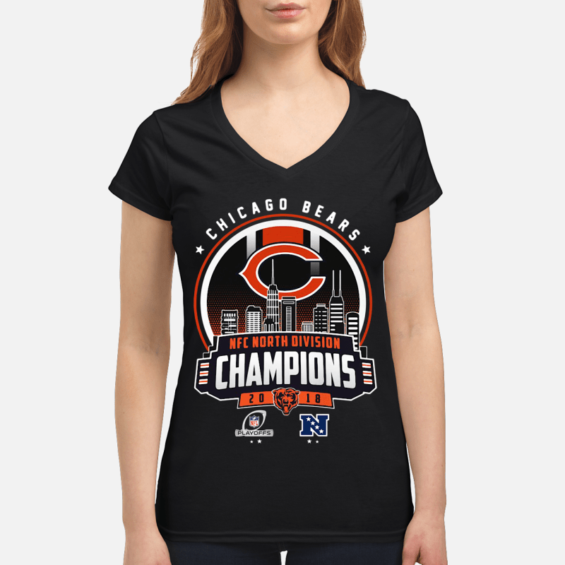 Chicago Bears NFC North division champions 20 18 V-neck t-shirt
