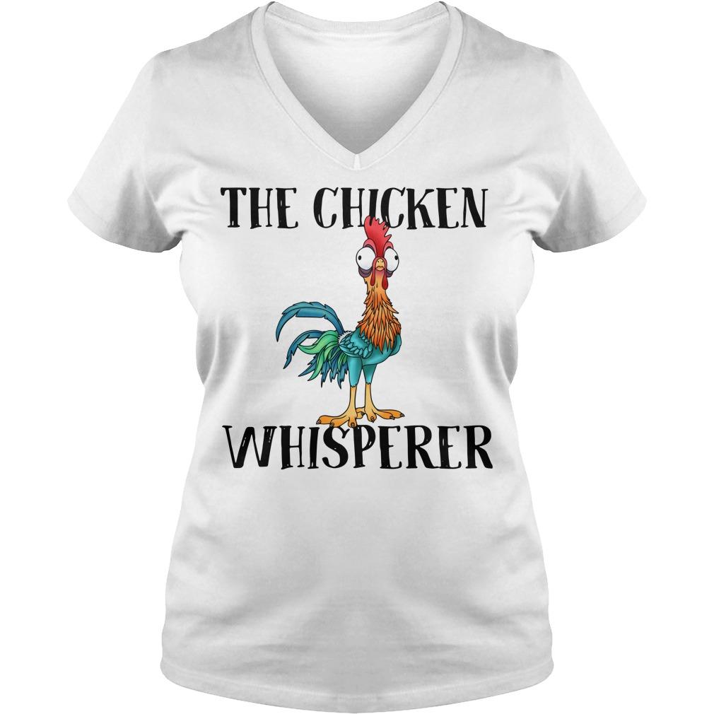 The chicken whisperer Hei Hei the Rooster Moana V-neck T-shirt