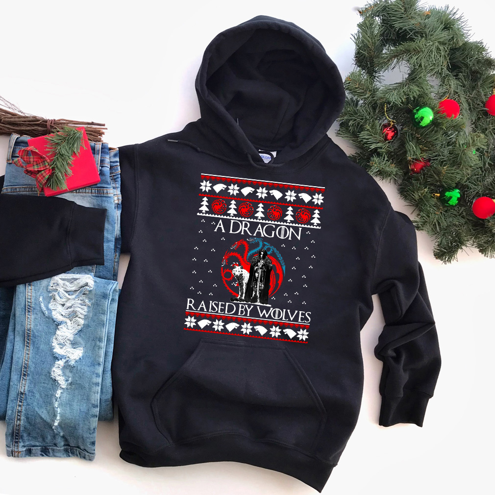 Christmas A Dragon raised by Wolves sweater