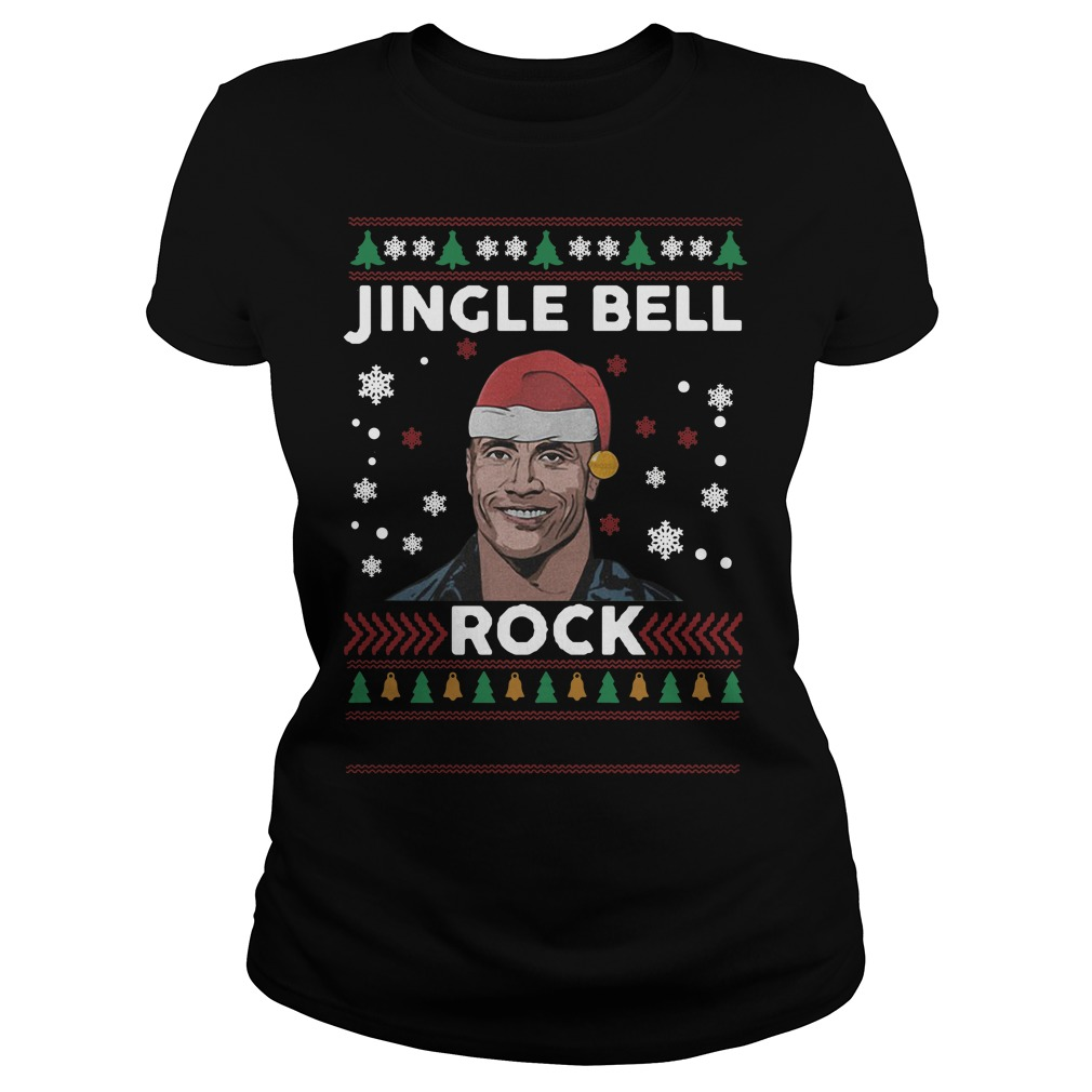 Christmas Dwayne Johnson Jingle bell rock Ladies tee