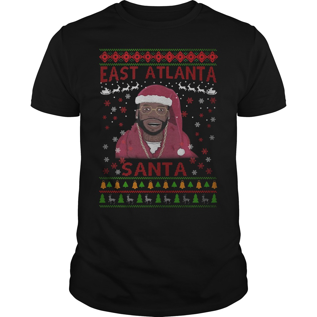 Christmas Gucci Mane east Atlanta Santa Guys shirt