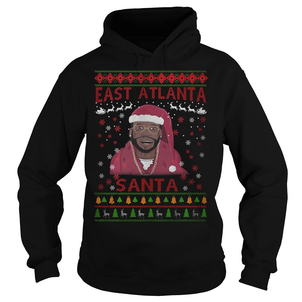 Christmas Gucci Mane east Atlanta Santa Hoodie