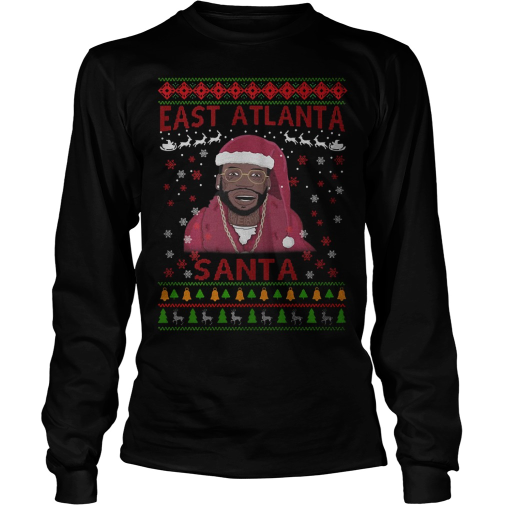 Christmas Gucci Mane east Atlanta Santa sweaterChristmas Gucci Mane east Atlanta Santa Longsleeve tee