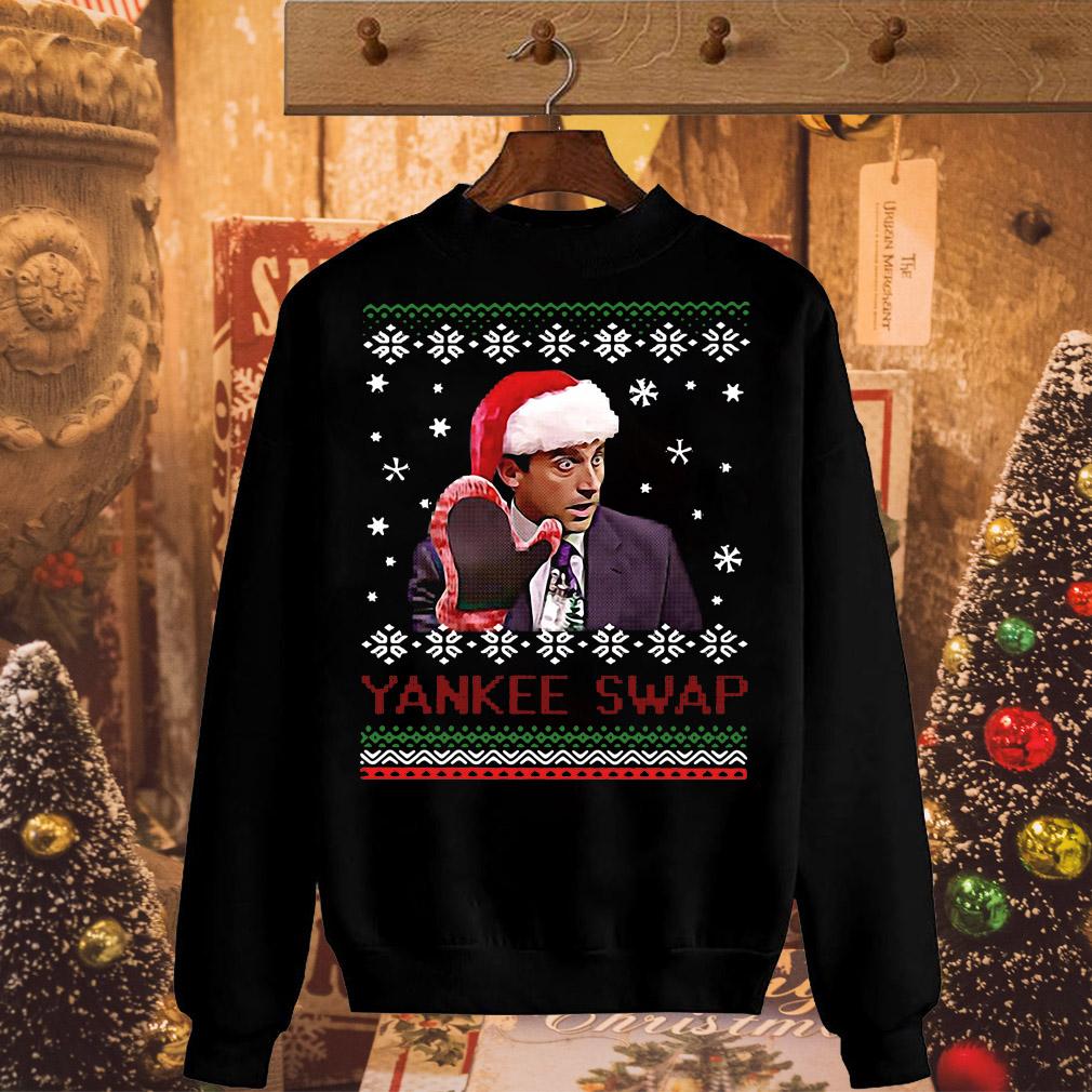 Christmas Michael Scott Yankee swap sweater