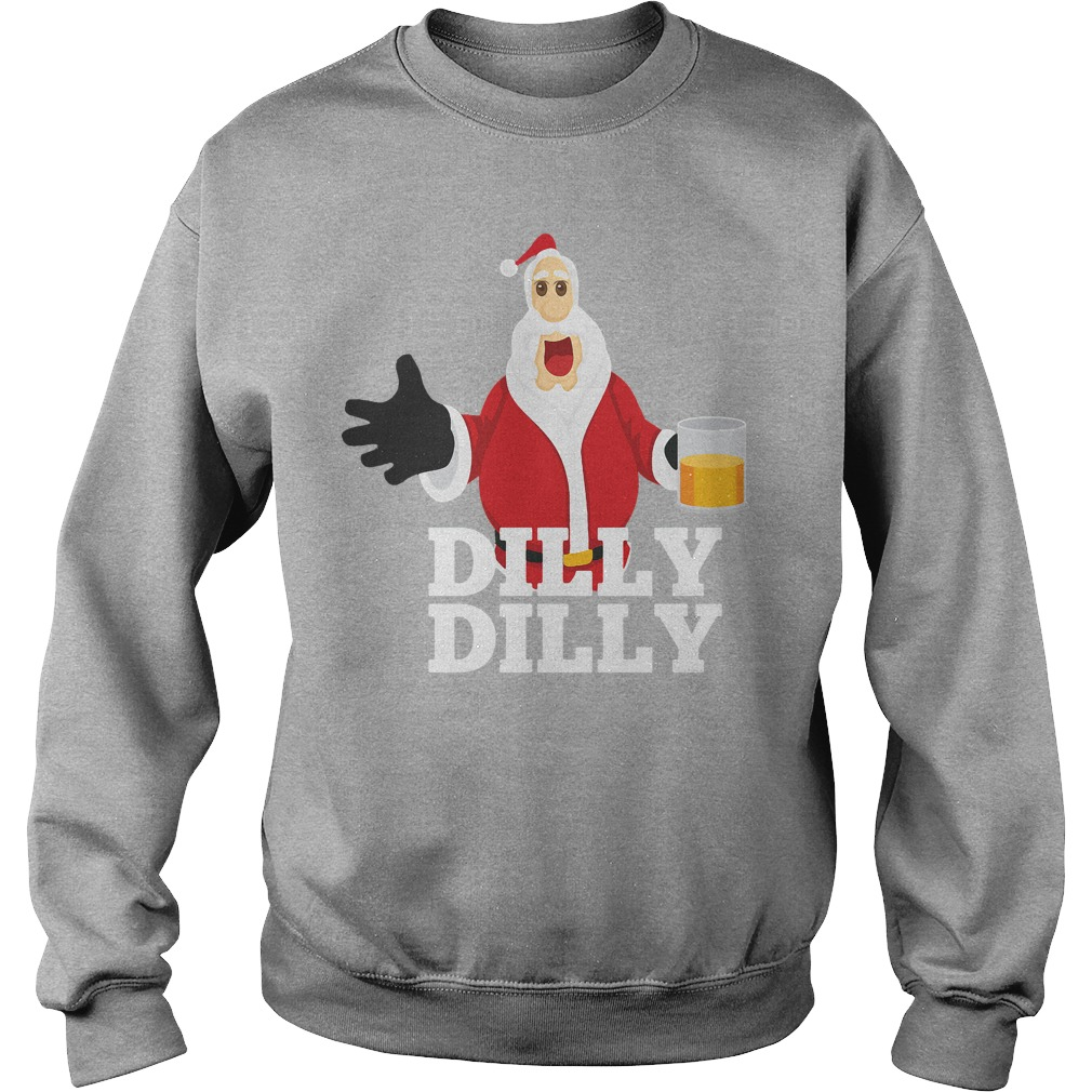 Christmas Santa Claus Dilly Dilly shirt gift 4 beer drinkers sweater