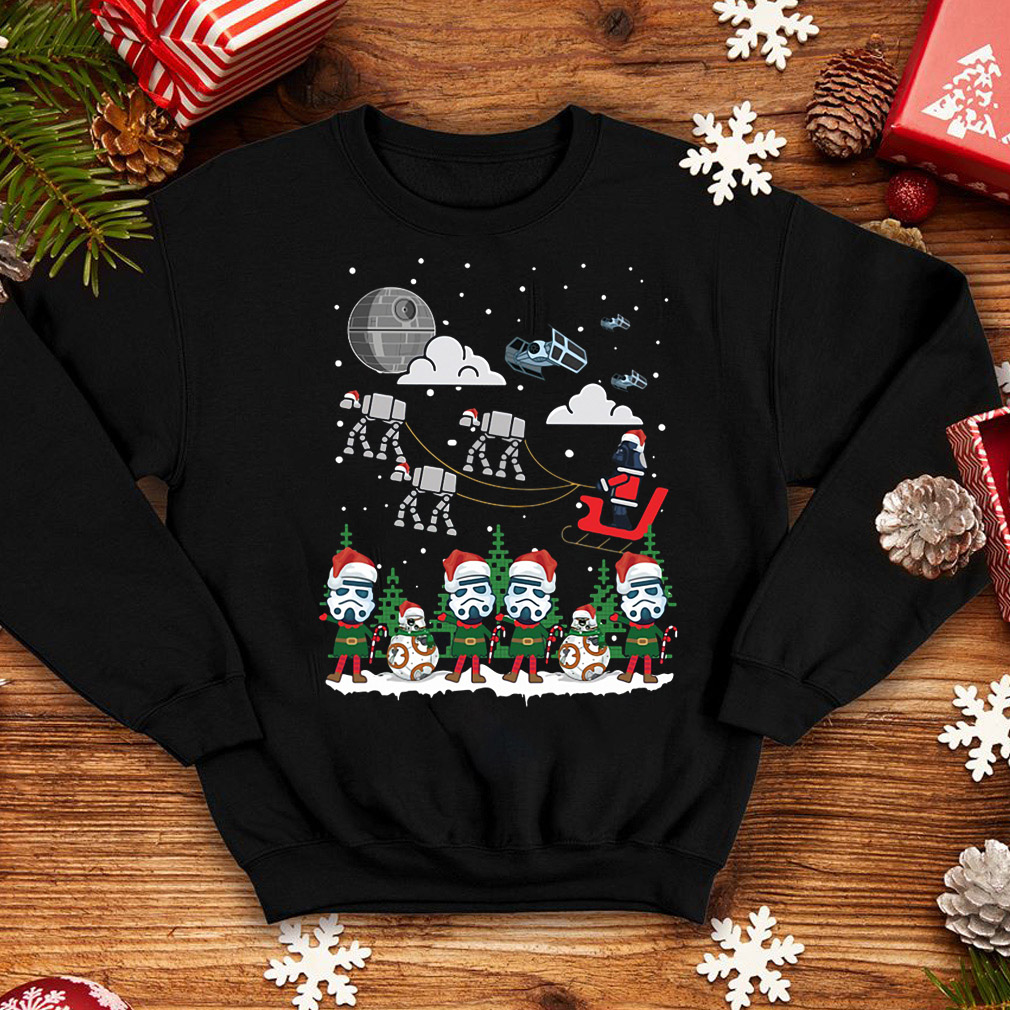 Christmas Santa Darth Vader Sleigh Star Wars sweater